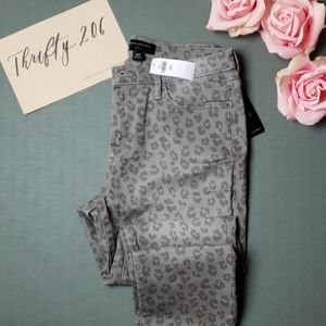 [Ban Rep Factory] Leopard Skinny Jeans  - NWT